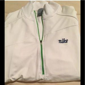Nike White Jacket Green Zipper Med 8-10 (B16)